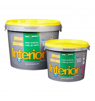 Фарба інтер'єрна латексна стійка до миття INTERIOR 7 TM KhimrezervPRO