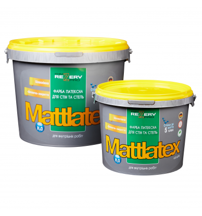 Фарба латексна білосніжна для стіна та стель MATTLATEX TM KhimrezervPRO