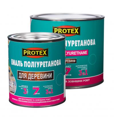 Емаль поліуретанова швидковисихаюча для дерева ТМ PROTEX